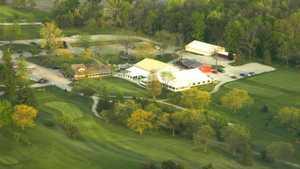 Locust Hills GC: clubhouse (aerial)