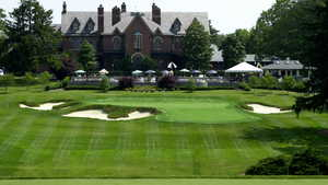 Eighteen Hole at Hurstbourne CC: #18 & clubhouse