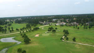 Gleannloch Pines GC: Aerial view