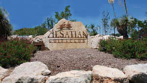 Alsatian GC sign