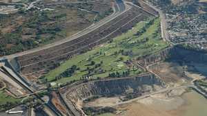 Hansen Dam GC: Aerial view