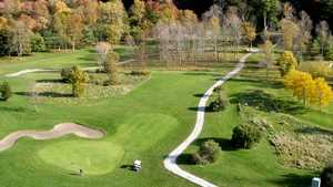 Fox Nine at Whisky Run GC: aerial view of the 6th green