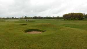 18th and 1st greens at Southport