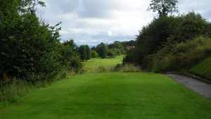 Elevated tee at Holywood Golf Club