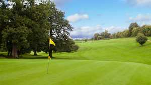 A view from the back of the green at Surrey National Golf Club