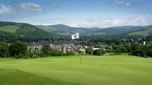 The 2nd green at Peebles