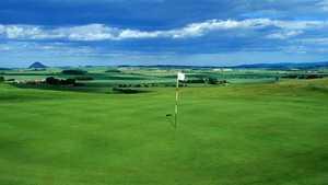 3rd green at Gullane 2 Golf Club